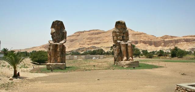 viaje Egipto Egypt Luxor Karnak colosos de Memnon