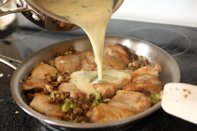 Pan Seared Chicken with Honey Mustard Cream Sauce