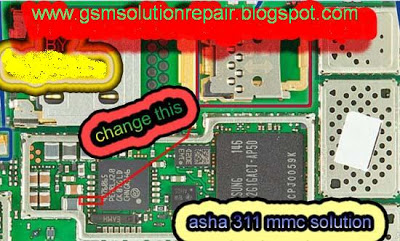 NOkia Asha 311 MMc Hardware Repair Solution Tips