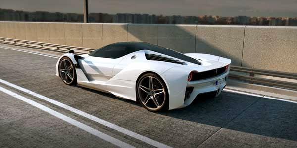 Foto Mobil Ferrari Enzo White On The Road