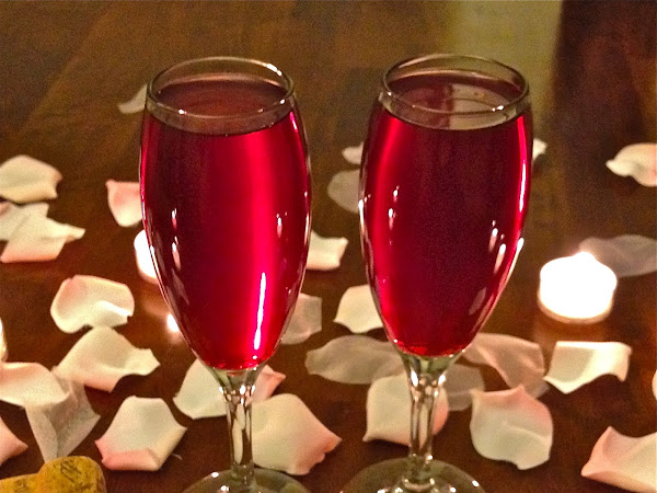 Something to Sip with your Valentine...Pomegranate Champagne (Guest Post)