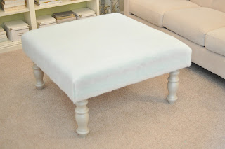 Stunning Now you have a great and much more inexpensive upholstered ottoman in the fabric of your choice