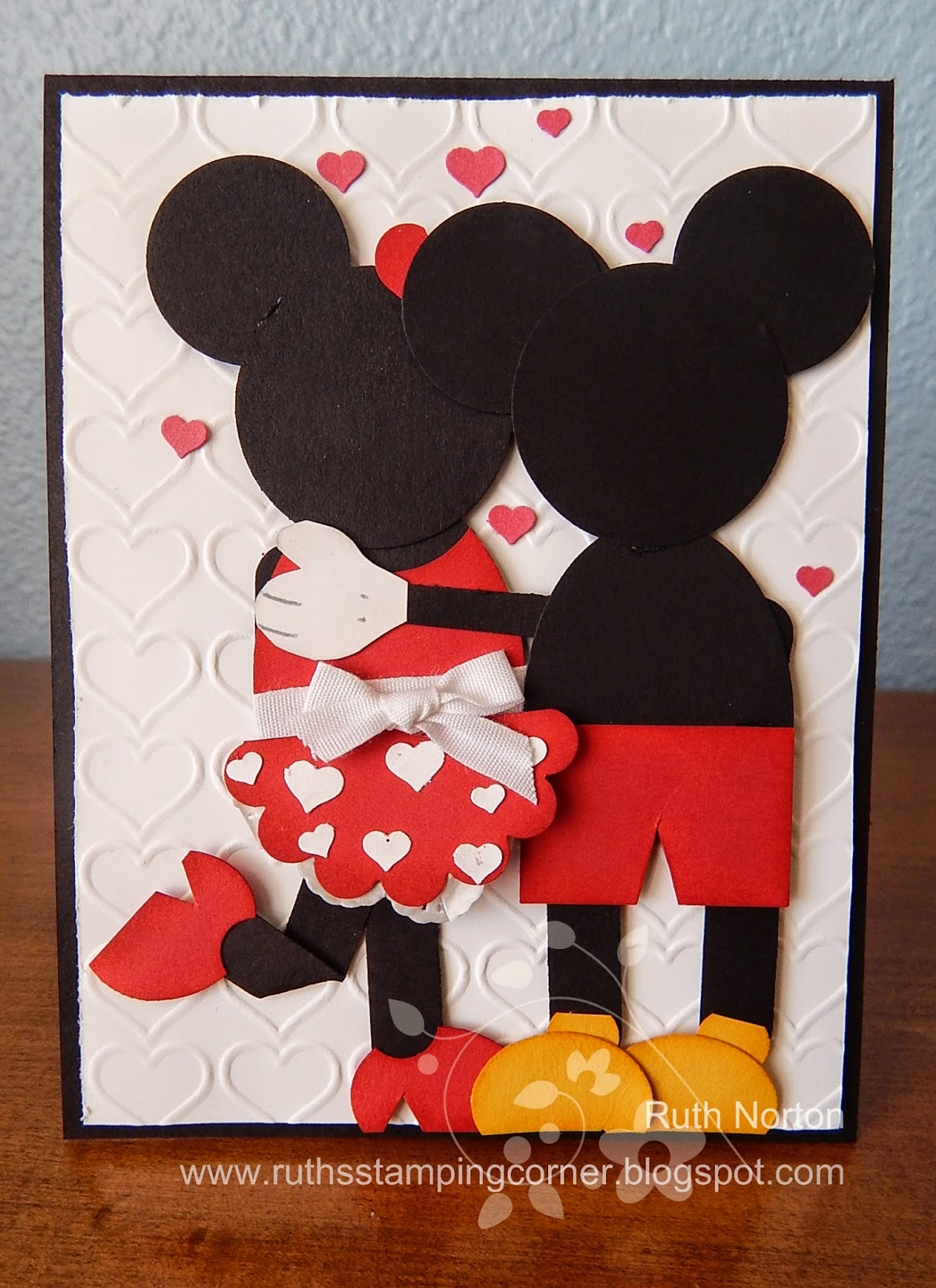 Ruth 39 s stamping corner mickey and minnie love for Anniversary craft ideas for parents