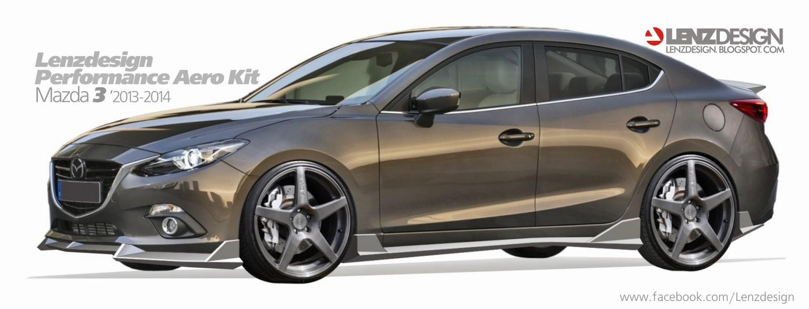 Mazda 3 2014 Tuning Body Kit Project Lenzdesign