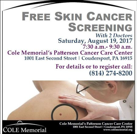 8-19 Free Skin Cancer Screening
