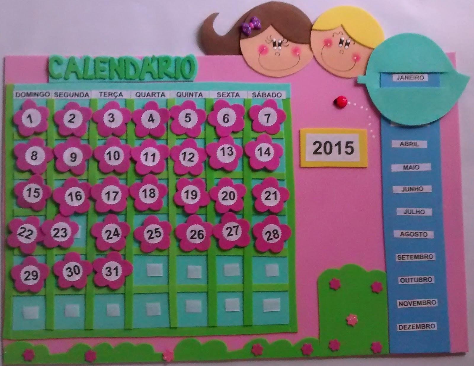 Saberes e fazeres em nossas m os calend rio para sala de aula - Calendario da tavolo con foto proprie ...
