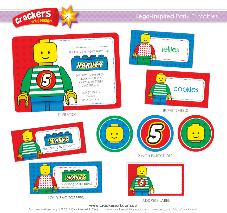 Lego Party Games Printables - Worksheet & Coloring Pages