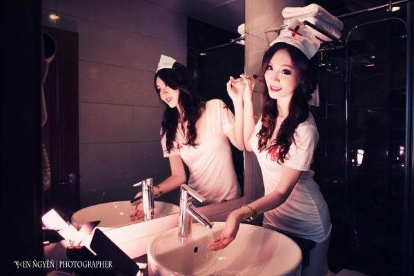 Ngắm nữ y tá xinh đẹp gợi cảm quyến rủ