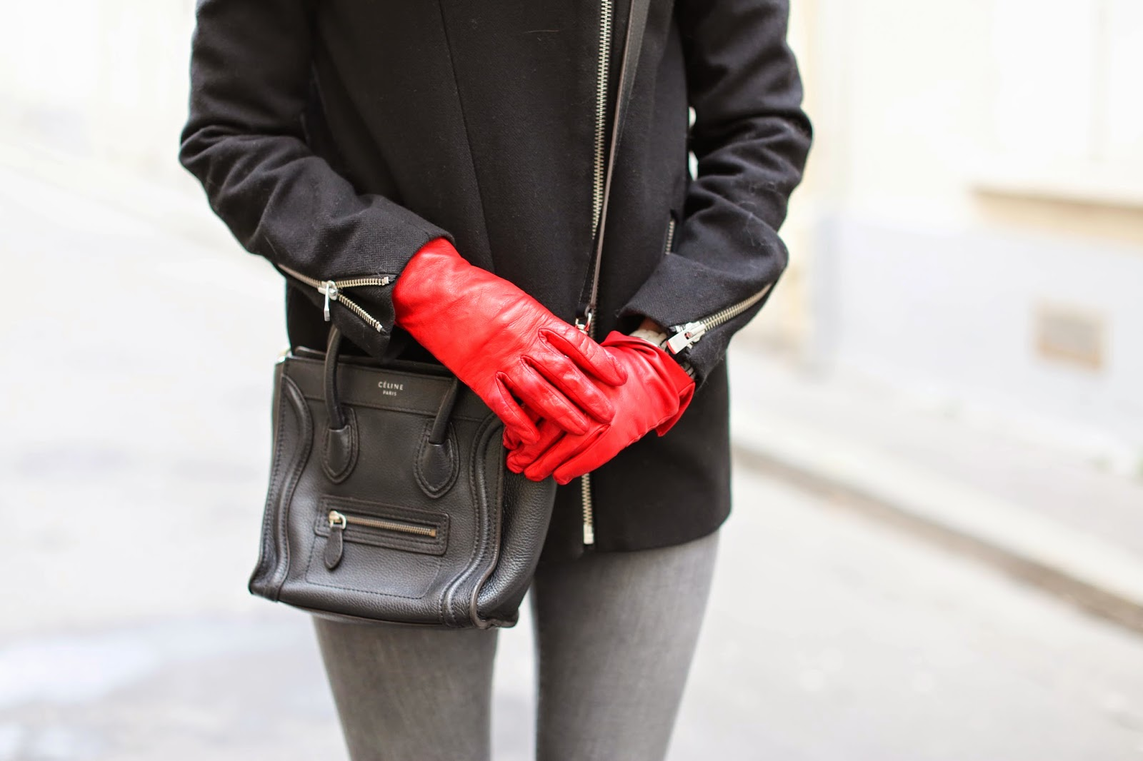 vedgy, maje, topshop, iro, maison michel, céline, gloves, streetstyle, paris