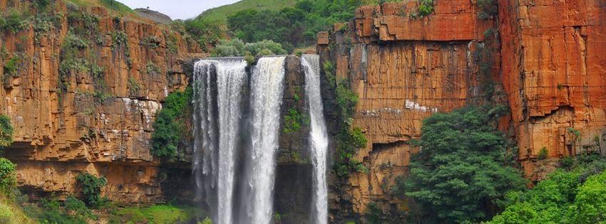 Couverture facebook cascade afrique du sud