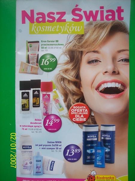 Oferta kosmetyczna Biedronka 20.06.2013-03.07.2013