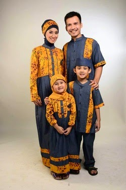 Model baju batik muslim sarimbit modern