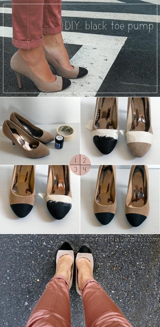 Diy : Black Toe Pump