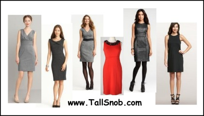 womens tall shift dresses and tall sheath dresses