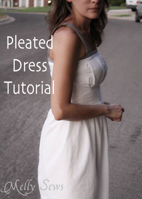pleated dress tutorial