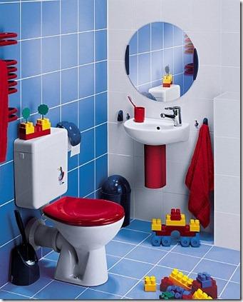 Baños modernos llenos de color especial para niños ...