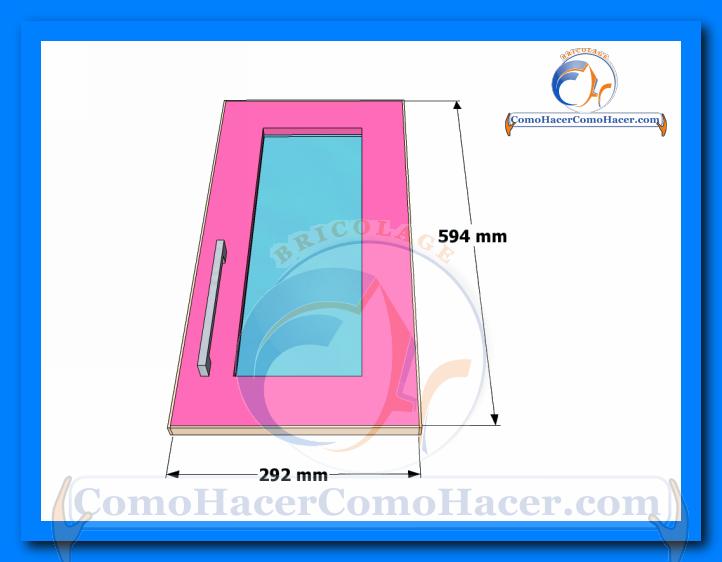 Puertas de muebles de cocina web del bricolaje dise o diy for Como se dan las medidas de un mueble