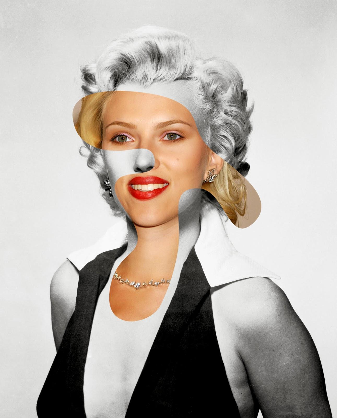 05-Marilyn-Monroe-Scarlett-Johansson-icon-Actor-Mashup-Photos-George-Chamoun-www-designstack-co