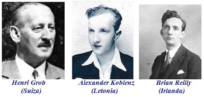 Henri Grob (Suiza), Alexander Koblenz (Letonia) y Brian Reilly (Irlanda)