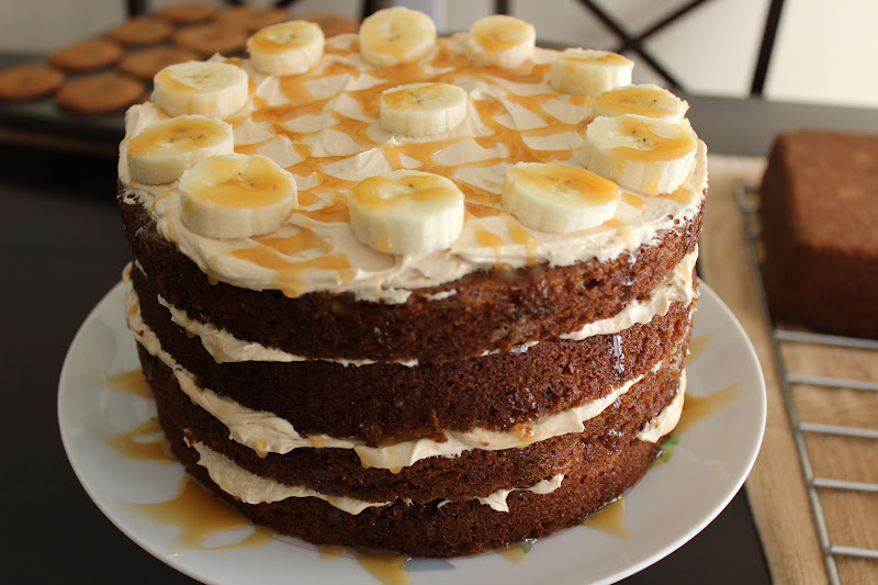 Naked Cupcakes: Banana Caramel Cake