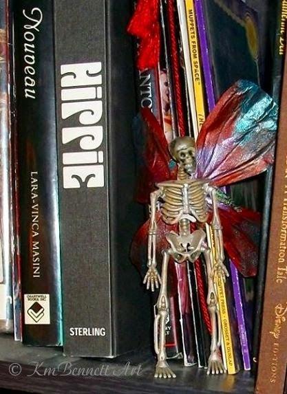 Dead Faerie mixed media KmbennettArt