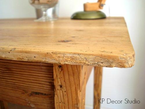 mesita vintage madera antigua restaurada