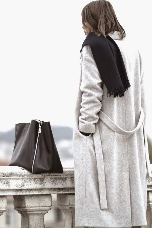 Light Grey Coat - Fall Fashion