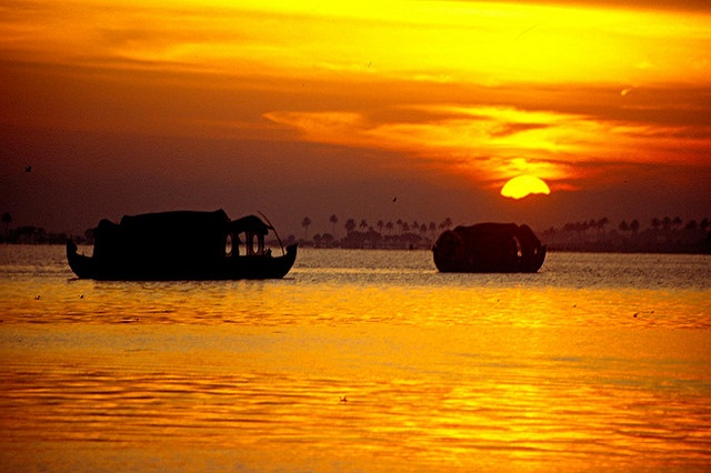 Sunrise view at Alleppey
