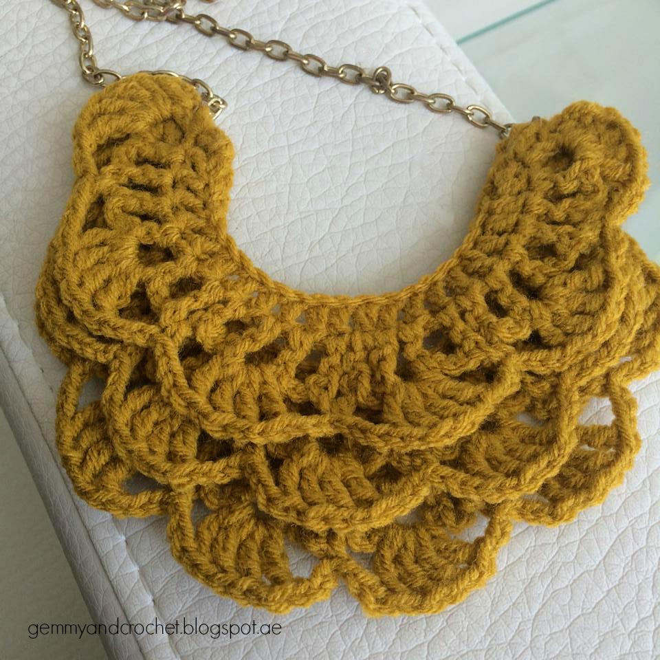 ALL ABOUT CROCHET: Free Pattern: Crochet Bib Necklace