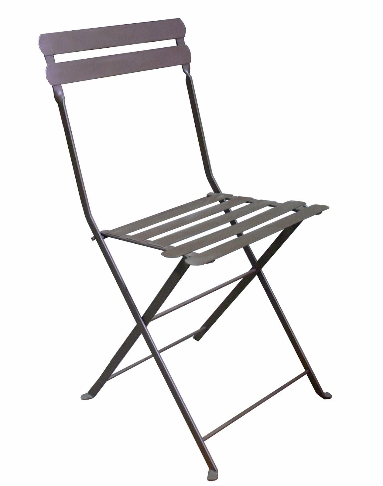 Mesas y sillas de hierro forjado artesanalmente en for Sillas plegables comodas