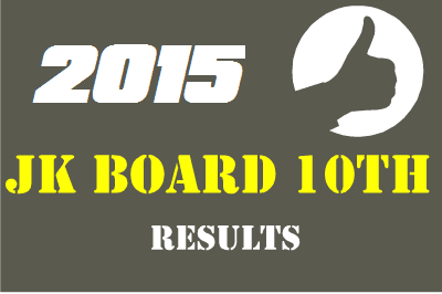 JK Board 10th Result 2015-Jammu and Kashmir 10th class Result 2015