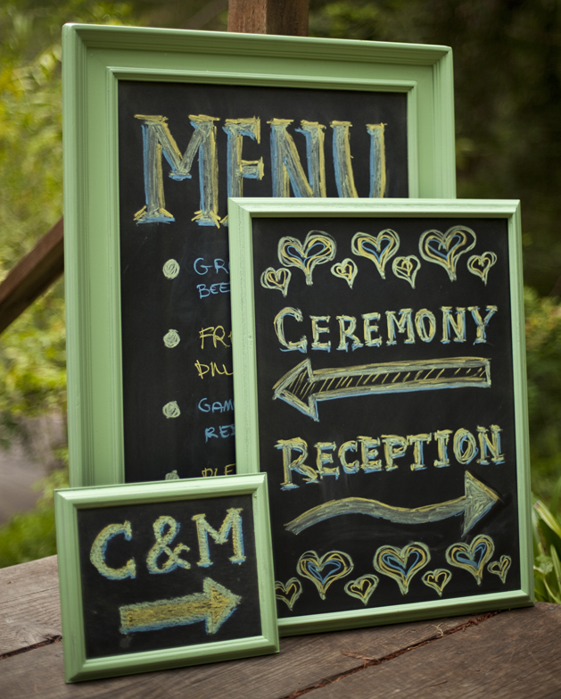 Chalk Board Signs For Wedding And