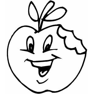 Here Is A Coloring Page Apple You Can Print The Pictures To Be Colored All Get For Free