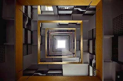 seni abstrak bangunan