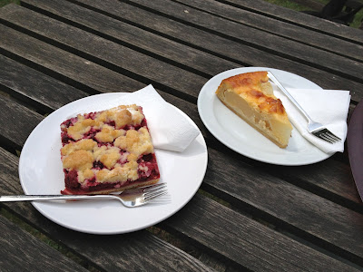Cafe am Waldsee homemade cakes cherry streusel pear cake