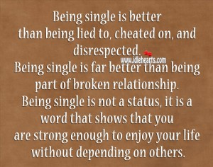 essay being single is better than being in a relationship