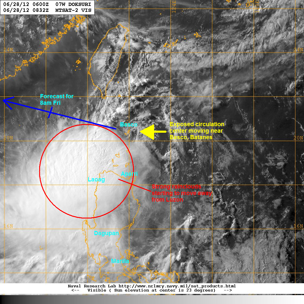 wind shear in the region remains strong making doksuri struggle in maintaining that core nevertheless strong convective activity continues to form