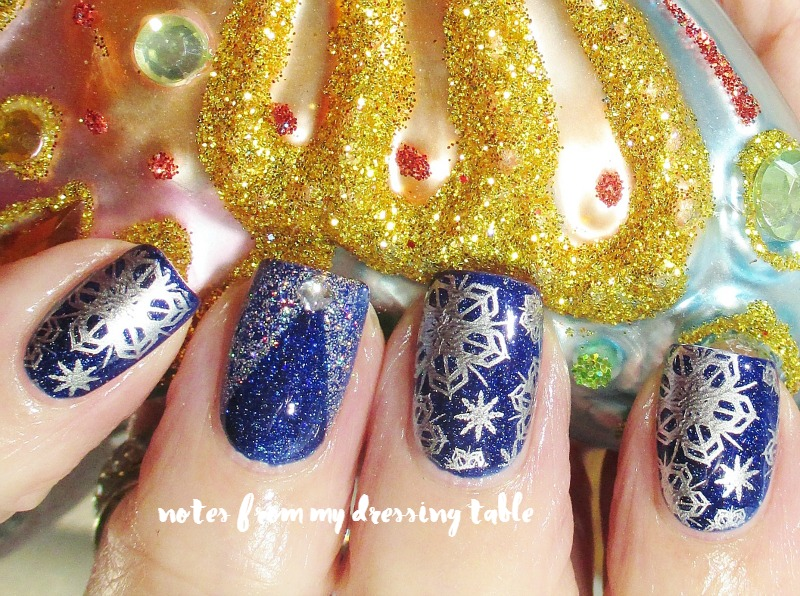 OPI Give Me Space and Bonus Holiday Nail Art - Review and Holiday Nail Art - notesfrommydressingtable.com