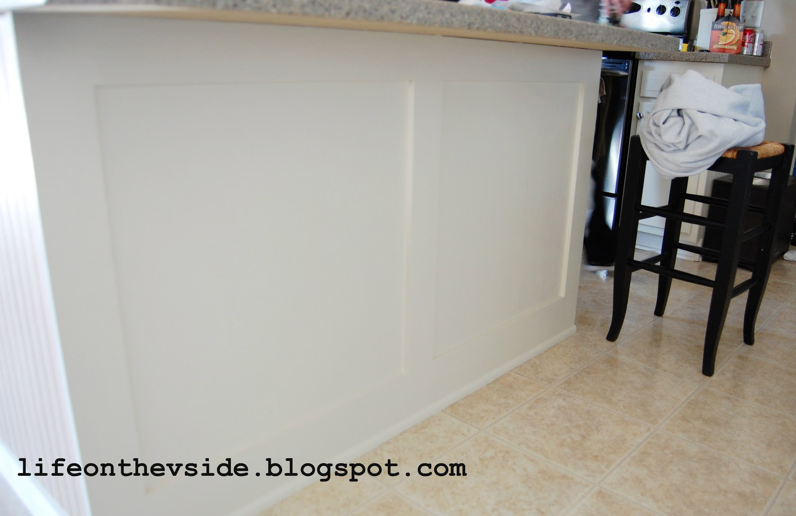 On The V Side Diy Kitchen Island Update