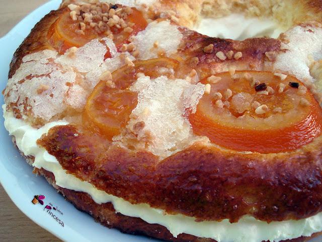 roscón de reyes, navidad, fruta confitada, naranja, limón, naranja confitada, limón confitado, masas,
