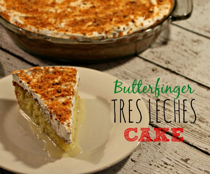 Butterfinger Tres Leches Cake #Valentines4All #shop #cbias