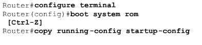 Utilisation de la commande boot system sous cisco