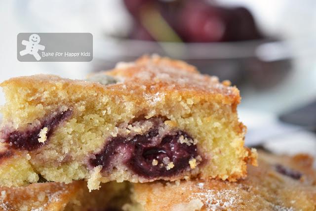 cherry vanilla tea cake
