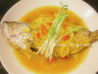 白身魚の梅蒸し プラー・ヌン・ブワイ