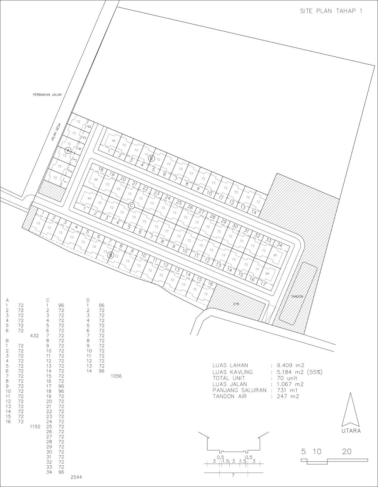 Dalam Dua Sertivikat | Jasa Pembuatan Site Plan
