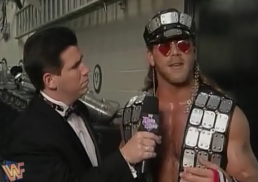 WWF / WWE - King of the Ring 1995 - Shawn Michaels w/ Todd Pettengil. HBK faced Kama in a time limit draw
