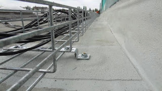 Cable Tray for Solar Farm on Membrane Rooftop