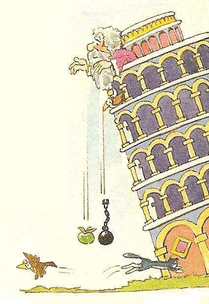 Galileo haciendo un experimento