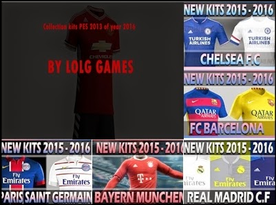 PES 2013 Collection Kits Of Year 2016 by lolg games