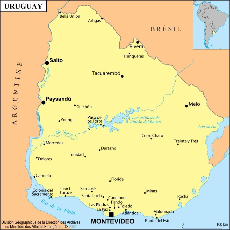 Uruguay en sudamerica